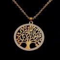 Fio Aço Árvore da Vida Brilhantes (mod. A1) - Dourado
