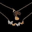 Fio Aço Inox Borboletas - Dourado