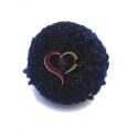 Pompom Bola Tipo Lã - Azul Escuro (35mm)