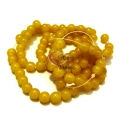 Fiada de Contas Acrílicas - Amarelo (8 mm) - [aprox. 100 unds]