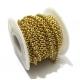 Corrente Aço Inox Elo Redondo (3mm) - Dourado [1 metro]
