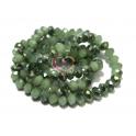Fiada Contas de Cristal Facetadas - Verde Opal com Metalizado (6x5) - [aprox. 100 unds]