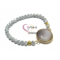 Pulseira Rock and Crystal - Tons Cinza