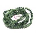 Fiada Contas de Cristal Facetadas - Verdes (4mm) - [aprox. 150 unds]