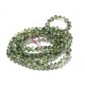 Fiada Contas de Cristal Facetadas - Green Colors (4mm)