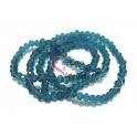 Fiada Contas de Cristal Facetadas - Azul Petróleo Cristalino (4mm) - [aprox. 150 unds]