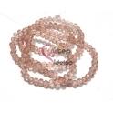 Fiada Contas de Cristal Facetadas - Rosa Velho Cristalino (4mm) - [aprox. 150 unds]