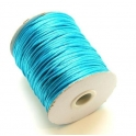 Cordão de seda turquoise (2 mm) - 1 metro