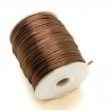 Cordão de seda dark brown (2 mm) - 1 metro