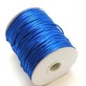 Cordão de seda dark blue (2 mm) - 1 metro