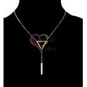 Fio Aço Inox Minimal Triangle Pendant - Dourado