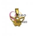 Pendente Aço Inox Mini Anjinho - Dourado (14x16mm)