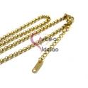 Fio Aço Inox Completo 316 L Elo Redondo (3 mm) - Dourado [45 cm]