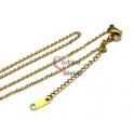 Fio Aço Inox Completo 316L Fininho (2x1.5mm) - Dourado [45 cm]