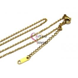 Fio Aço Inox Completo 316 L Fininho (2 x 1mm) - Dourado [45 cm]