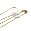 Fio Aço Inox Completo 316 L Malha Batida (1mm) - Dourado [45 cm]