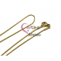 Fio Aço Inox Completo 316 L Malha Snake (1mm) - Dourado [45 cm]