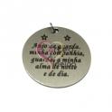 Pendente Aço Inox Oração Anjo da Guarda (2) - Prateado (30mm)