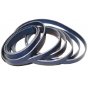 Cabedal Plano Liso Blue - Grey (10 x 2)