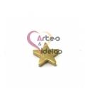 Conta Aço Inox Estrela - Dourado (1.5mm)