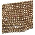 Fiada Contas de Cristal Facetadas - Brown Shine (8 x 6) - [aprox. 72 unds]