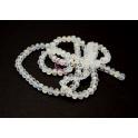 Fiada Contas de Cristal Facetadas - Crystal AB (8x6mm)