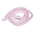 Fiada Contas de Cristal Facetadas - Pink (8 x 6) - [aprox. 72 unds]
