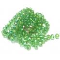 Fiada Contas de Cristal Facetadas - Light Green (8 x 6) - [aprox. 72 unds]