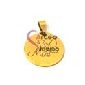 Pendente Aço Inox Mãe Borboleta - Dourado (25mm)