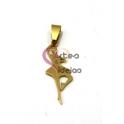Pendente Aço Inox Bailarina - Dourado (36x12mm)