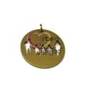 Pendente Aço Inox Família 3 Meninos - Dourado (22mm)