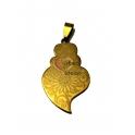 Pendente Aço Inox Viana Desenhos 1 - Dourado (40x25mm)