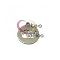 Pendente Aço Inox Medalhinha Recorte Coroa - Prateado (15mm)