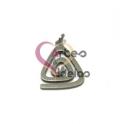 Pendente Aço Inox Mini Triângulo Espiral - Prateado (17x14mm)