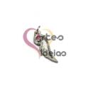 Pendente Aço Inox Mini Asa de Anjo - Prateado (17x6mm)