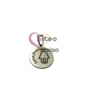Pendente Aço Inox Medalhinha Love Forever - Prateado (15mm)