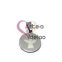 Pendente Aço Inox Medalhinha Anjinho - Prateado (15mm)