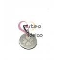 Pendente Aço Inox Medalhinha Trevo - Prateado (15mm)