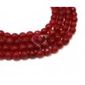 Fiada de Pedras Facetadas Vermelho Escuro (8 mm) - [48 unds]