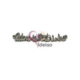 """Pendente Aço Inox Letras """"Adoro-te Madrinha"""" - Prateado (43x8mm)"""