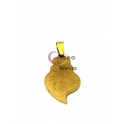 Pendente Aço Inox Viana Desenhos 2 - Dourado (35x20mm)