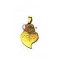 Pendente Aço Inox Viana Desenhos 3 - Dourado (35x20mm)