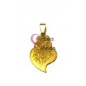 Pendente Aço Inox Viana Desenhos 4 - Dourado (35x20mm)