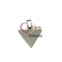 Pendente Aço Inox Triângulo Fechado - Prateado (20x20mm)