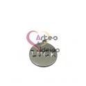 Pendente Aço Inox Medalhinha Recorte Luck - Prateado (15mm)