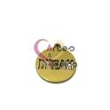 Pendente Aço Inox Medalhinha Recorte Dream - Dourado (15mm)