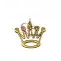 Pendente Aço Inox Coroa 5 Bicos - Dourado (25x27mm)
