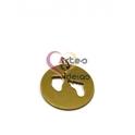 Pendente Aço Inox Pézinhos Recortados (2) - Dourado (22mm)