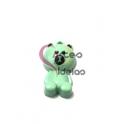 Pendente Metal Esmaltado Teddy Bear - Verde Pastel (25x14mm)