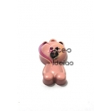 Pendente Metal Esmaltado Teddy Bear - Rosa (25x14mm)